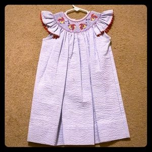 kelly's kids Dresses - Kelly's Kids Smocked Fish Dress